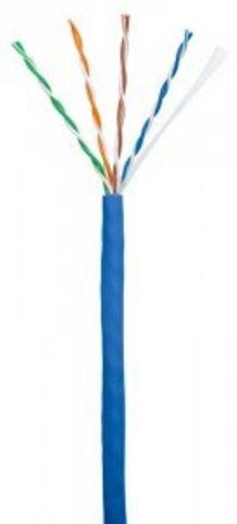 Кабель NETLAN U/UTP 4pair, Cat5e, In, PVC (CCA-UU004-5E-PVC-BL) (305м.)
