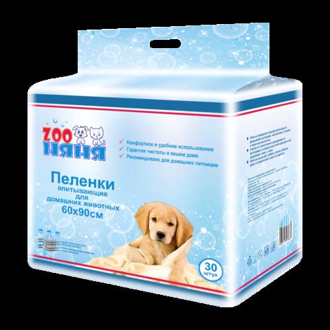 Zoo Няня Пеленки для собак впитывающие одноразовые гигиенические № 30