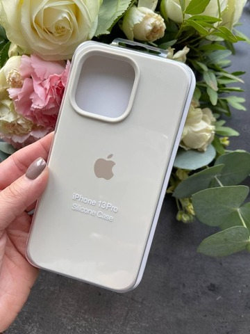 Чехол iPhone 13 Pro Silicone Case Full /antique white/