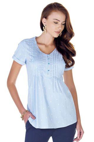 Рубашка для беременных 09421 цветочный принт