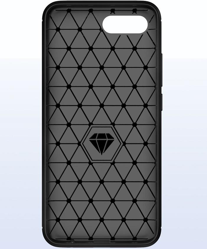 Чехол для Honor 10 (10 GT) цвет Black (черный), серия Carbon от Caseport