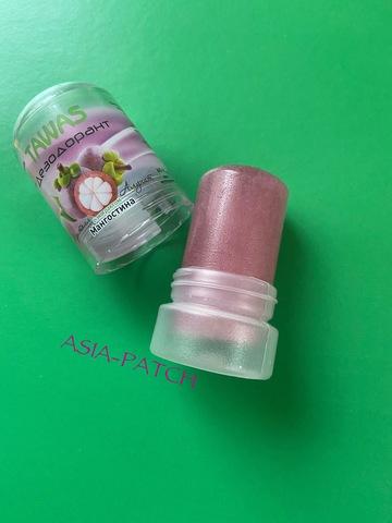 Распродано- TAWAS кристальный алунитовый дезодорант, мангостина, 60 гр