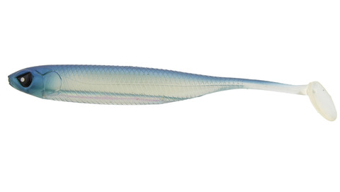 Виброхвост LJ 3D Series Makora Shad Tail 4.0in (10 см), цвет 001, 6 шт.