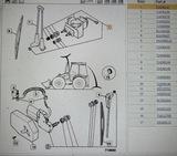 Моторчик омывателя передний задний дворник JCB 3CX 4CX