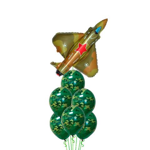Фонтан из шаров Истребитель военный