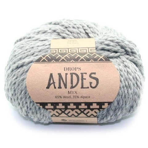 Пряжа Drops Andes 9015 серый