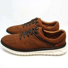 Кроссовки для повседневной носки мужские Vitto Men Shoes 1830 Brown White