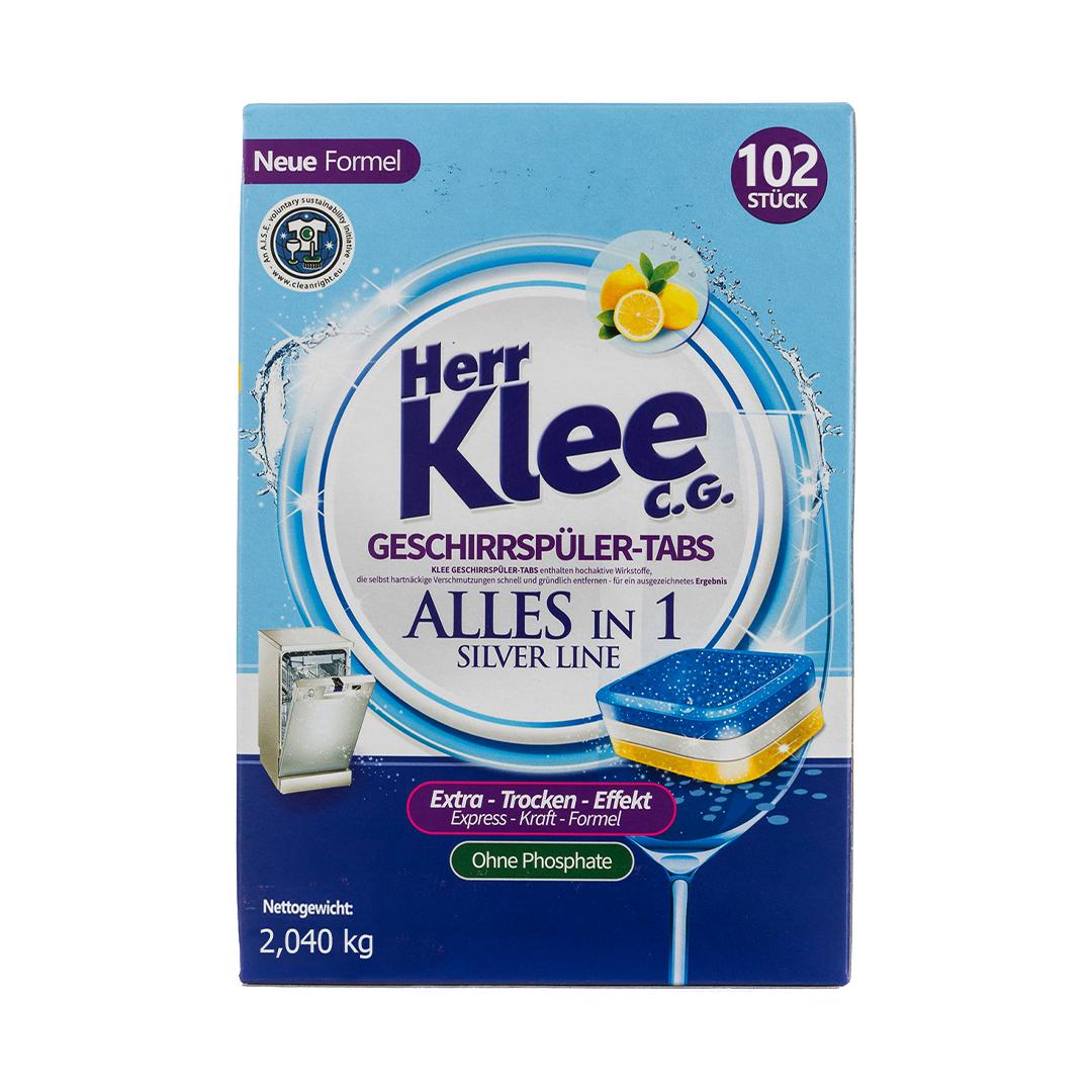 Herr Klee C.G. Dishwasher Tablets Таблетки для посудомоечных машин 2,04 кг. 102 шт.