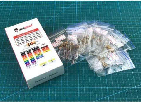 Набор выводных резисторов 0.25W (100 кОм-910 кОм) 24 номинала по 10шт.