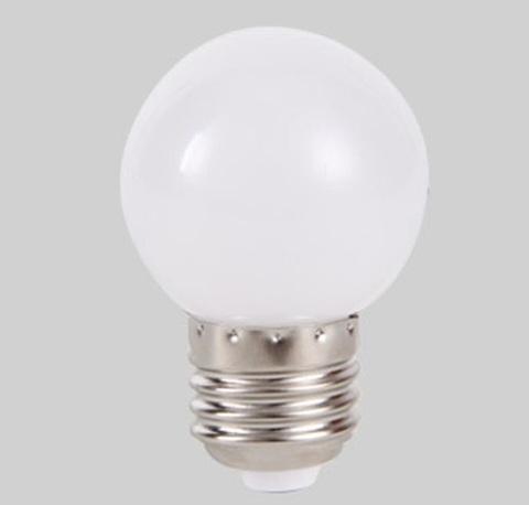 Светодиодная лампа - шарик, 1Вт, Е27, белая.