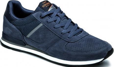 Синие кроссовки из искусственной замши и текстиля