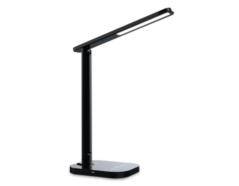 Светодиодная настольная лампа с USB портом и таймером DE445 BK черный LED 3000-6400K 7W
