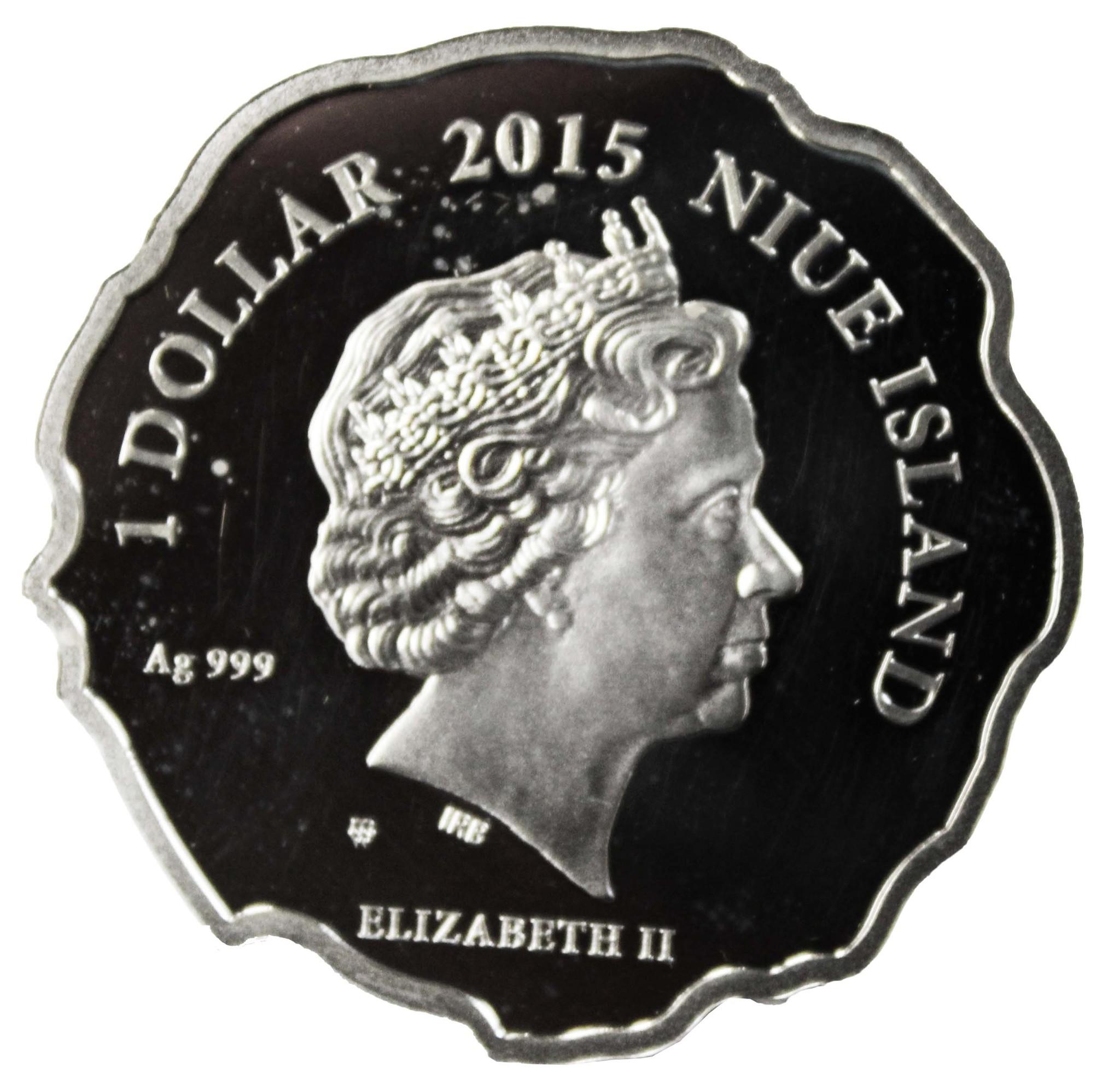 1 доллар 2015 год. Памятная монета