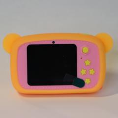 Фотоаппарат детский SmileZoom Мишка с селфи-камерой / 20 Мп / Оранжевый