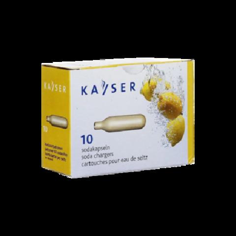 Баллончик KAYSER для сифона для газирования воды (СO2) 10 шт/уп