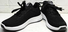Дышащие кроссовки черные женские Fashion Leisure QQ116.