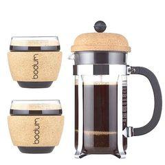 Стакана с пробкой и кофейник с пробкой - отличное решение для подарка!