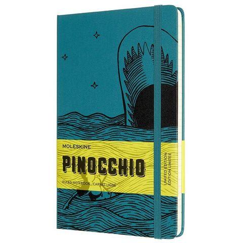 Блокнот Moleskine LE PINOCCHIO The Dogfish (LEPIQP060B) 130х210 мм, 240 стр. в линейку, темно-зеленый/черный