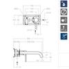 Встраиваемый смеситель для раковины DRAKO 332103 - фото №3