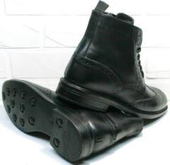 Молодежные зимние ботинки мужские  Luciano BelliniBC3801L-Black.