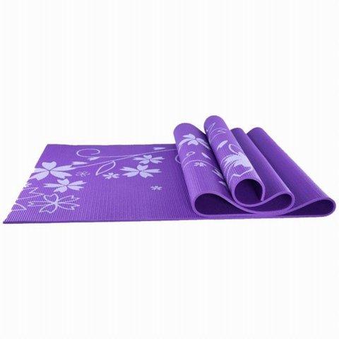 Коврик для йоги и фитнеса YL-Sports 173*61*0,4см BB8303 с принтом, фиолетовый (ЕвСп) (Коврик для йоги и фитнеса YL-Sports 173-61-0,4см BB8303 с принто