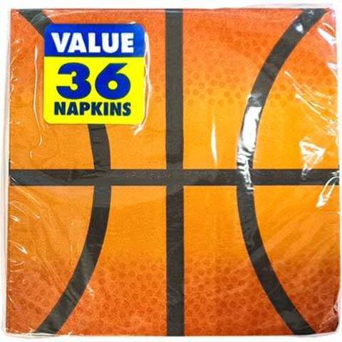Салфетки малые Баскетбол, 36 штук