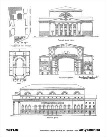 Большой театр   Книжные закладки + открытка