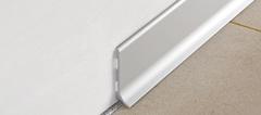 Алюминиевый плинтус Progress Profiles BTAA 40*2000 Анодированный Серебро