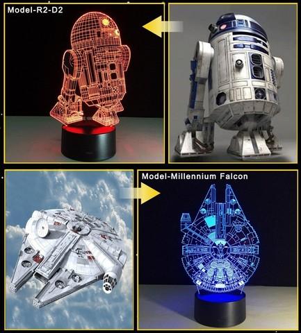 3D светильник Звездные войны — 3D light Star Wars