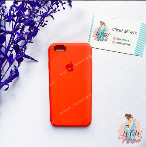 Чехол iPhone 6+/6s+ Silicone Case /orange/ оранжевый 1:1