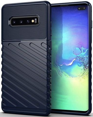 Carbon / Чехол для Samsung Galaxy S10 Plus серия Оникс | синий