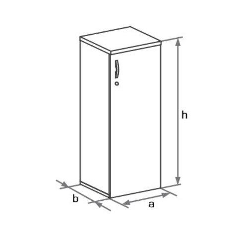 Шкаф закрытый узкий (h=1205) БОСТОН