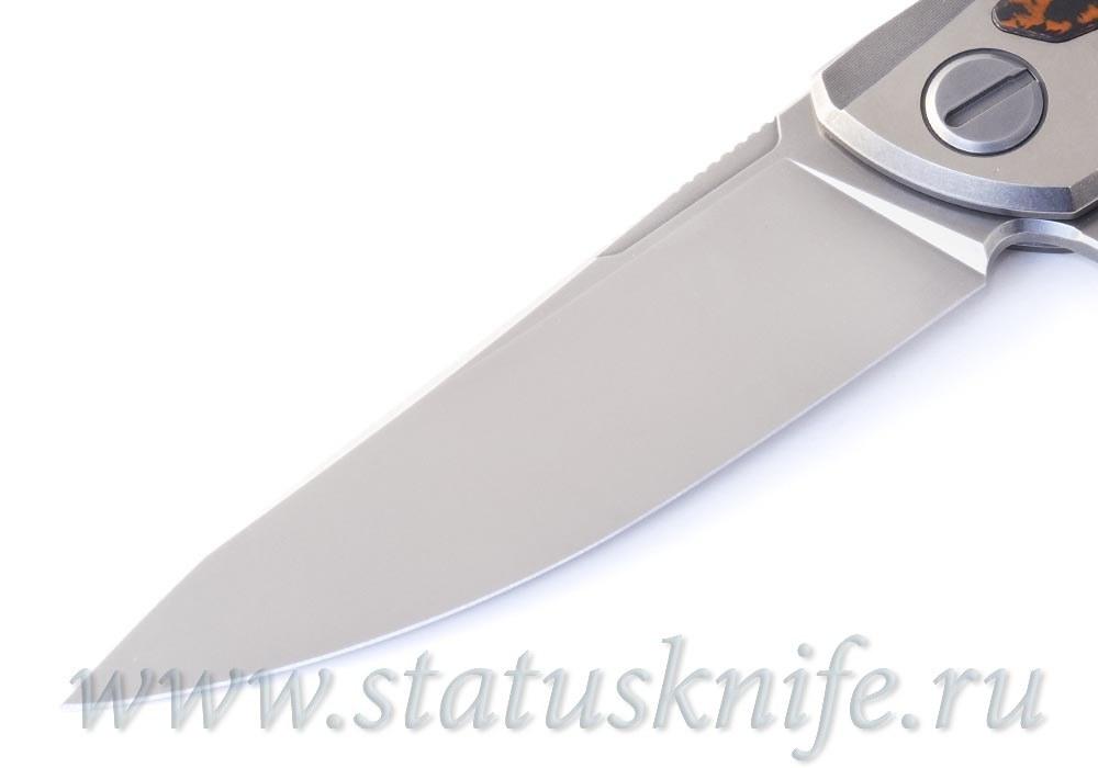 Нож Широгоров Флиппер F95NL M398 RED CF - фотография