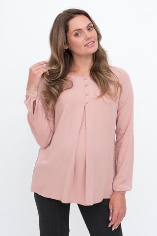 Блузка для беременных 11876 пудра