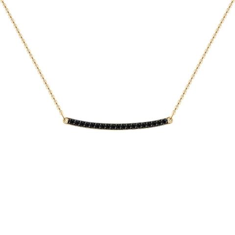 7070001 - Колье из золота с чёрными бриллиантами