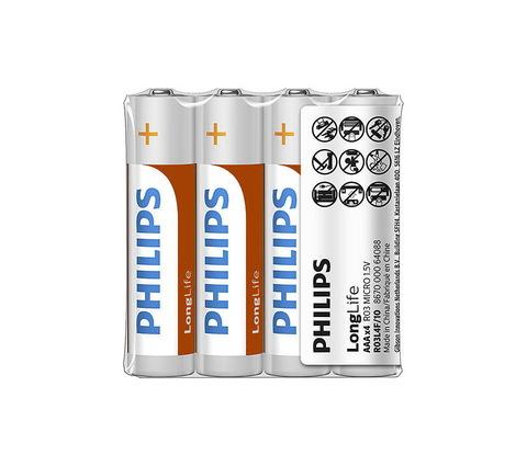 Батарейки Philips R03, AAA (4/40)