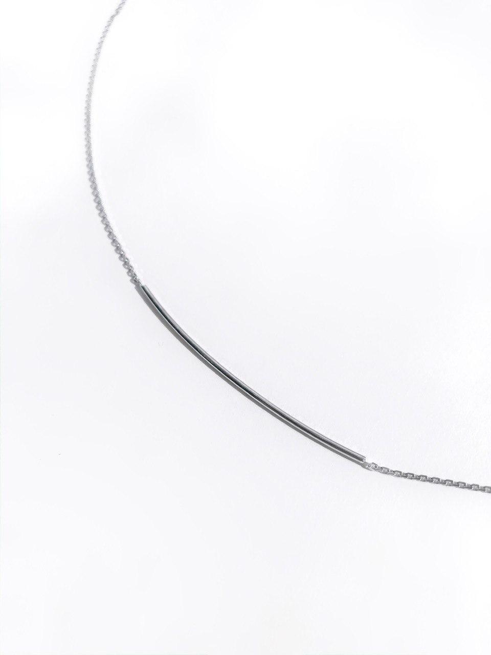 Серебряное колье на цепочке