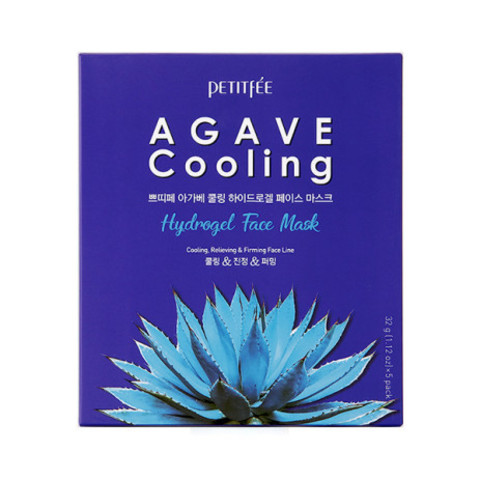 Гидрогелевая маска для лица с агавой Petitfee Agave Cooling Face Mask, 1 шт