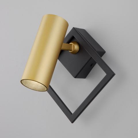 Настенный светодиодный светильник 20091/1 LED черный/ золото