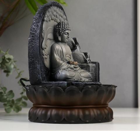 Фонтан настольный от сети, подсветка Будда, 20,5 см х 20,5 см х 30 см