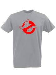 Футболка с принтом Охотники за привидениями (Ghostbusters) серая 002