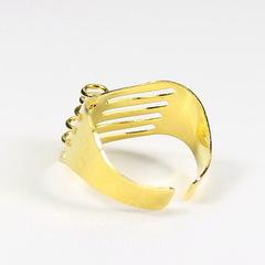 Основа для кольца с петельками (5 петелек) (цвет - золото)