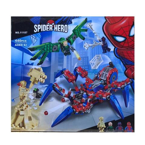Конструктор Supreme Heroes Spider Hero Вездеход Человека-Паука / Паучий вездеход 11187, 440 дет.