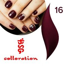 BSG Colloration, №16 Бордовый с шимером