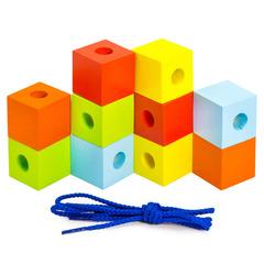 Шнуровка Alatoys Кубики цветные ШН33