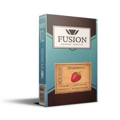 Табак Fusion Medium Strawberry 100 г