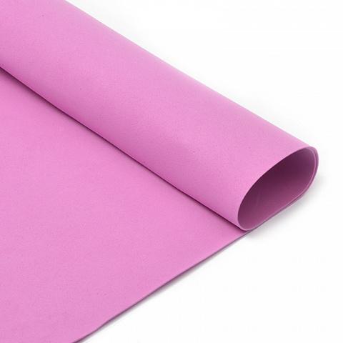 Фоамиран 1мм, 50*50 см, розово-сиреневый