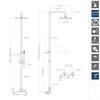 Душевая система со смесителем DRAKO 3358RM250 - фото №2