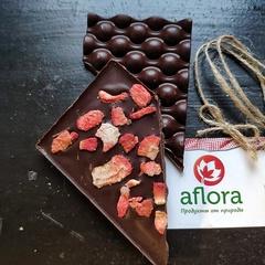 Шоколад на меду с клубникой / 65 гр