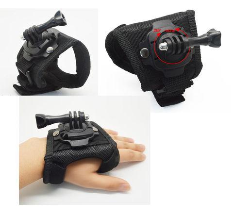 Вращающееся ручное запястье в водонепроницаемой оболочке, ремень для GoPro Hero 3, 2